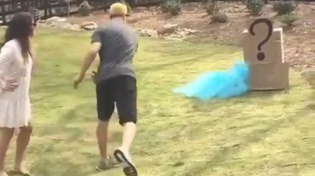 Kirk Cousins Barely Hit the Broad Side of His Baby Gender Reveal Thing