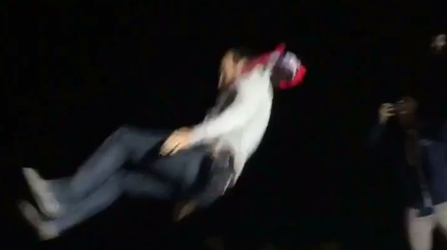 Landon Donovan Stage Dives off a Food Truck and People Aren't Really Ready