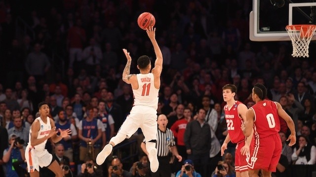 Let's Just Watch Wisconsin and Florida's Two Insane, Flying Buzzer-Beating Threes Again, Shall We?