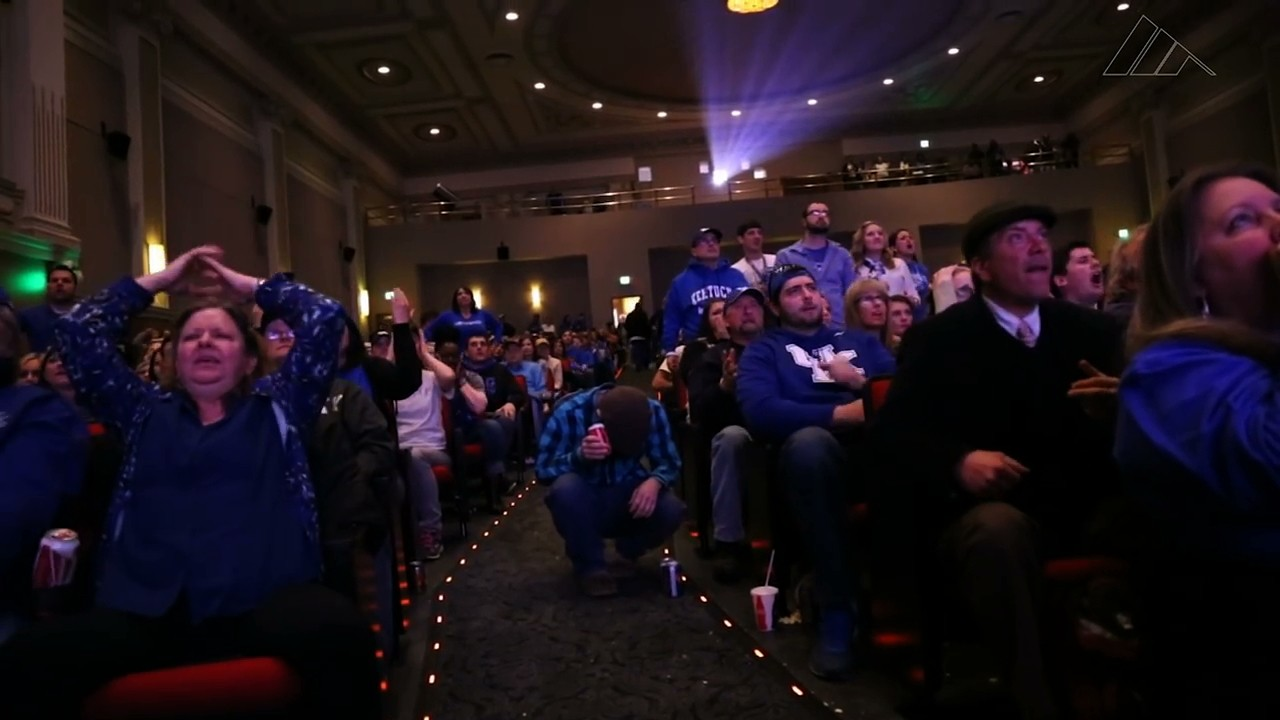 Kentucky Fans Experience the Thrill of Victory and the Agony of Defeat in Seconds