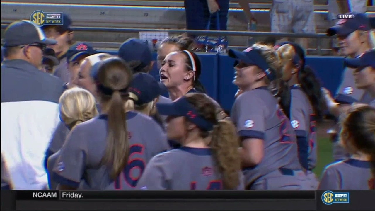 Auburn Softball Player and Florida Coach Get into Shoving Match