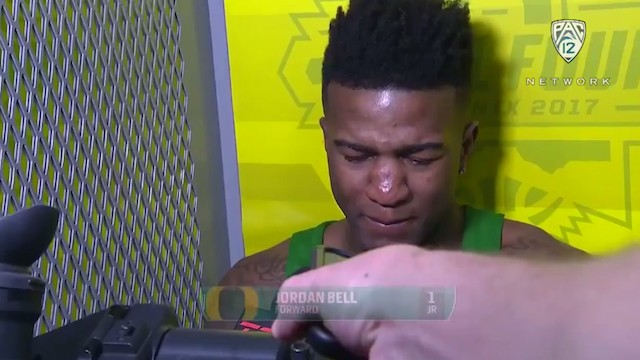 "An Emotional Jordan Bell Takes the Blame for Oregon's Loss, ""If I Would've Just Boxed Out"""