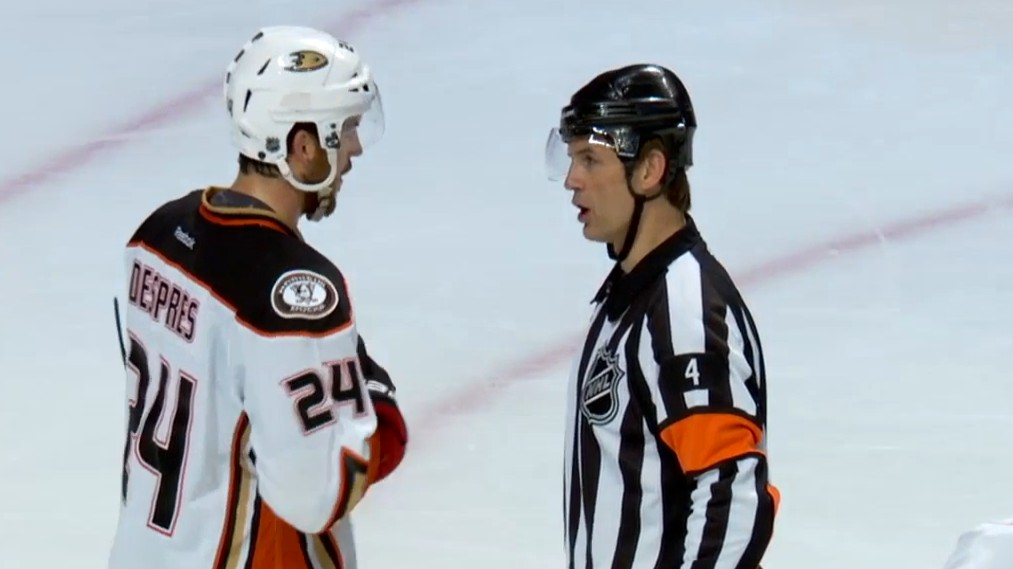 """""""Let's Go Whistle To Whistle"""" : Mic'd up at the Ducks vs. Blackhawks Game"""