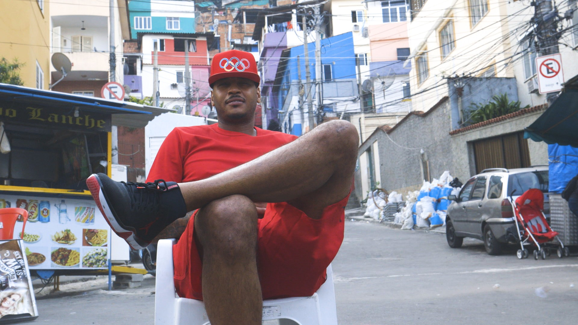 Carmelo Anthony Explores Rio and its Favelas
