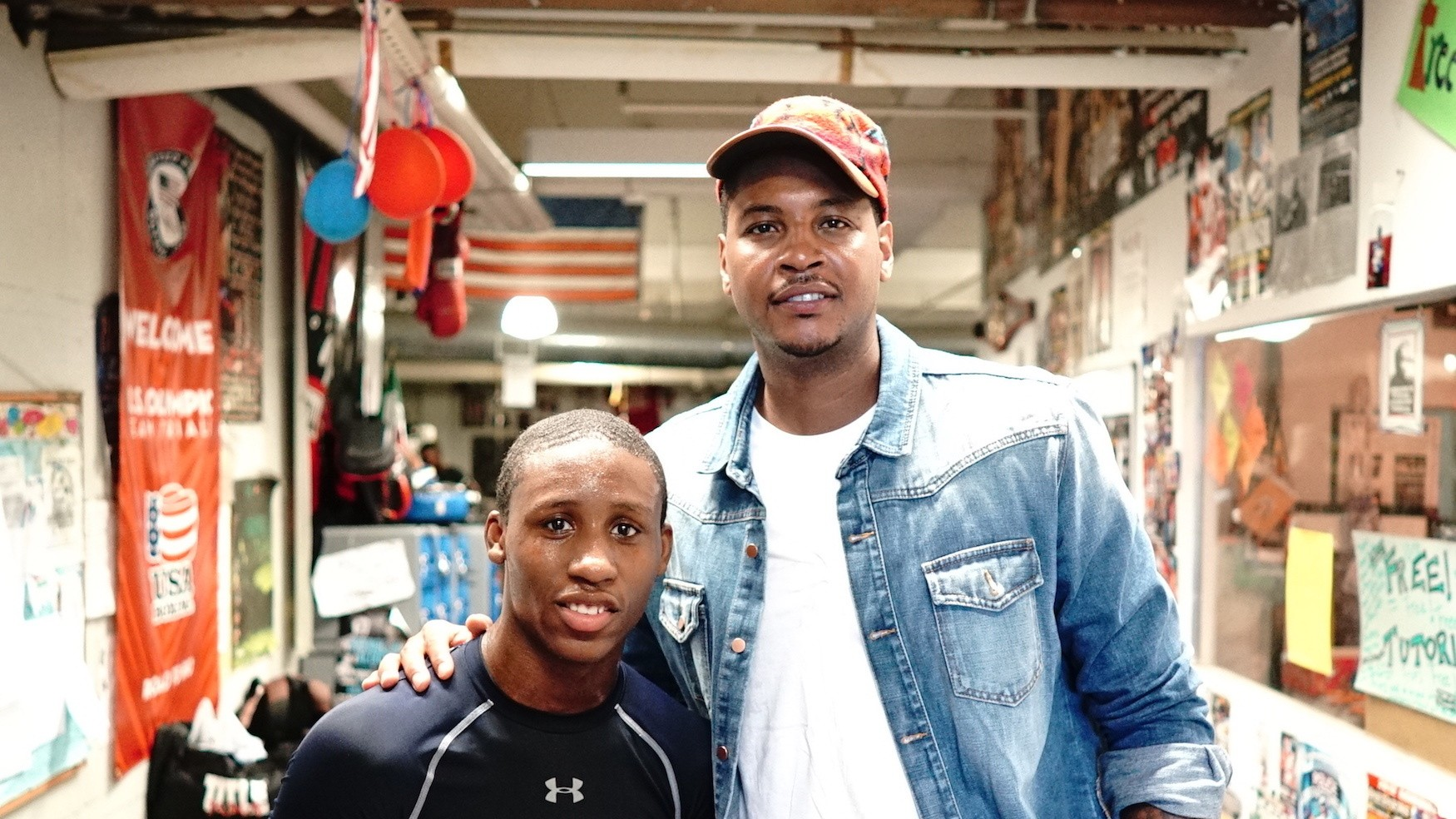 Carmelo Anthony Visits Brooklyn's Boxing Mecca: Stay Melo